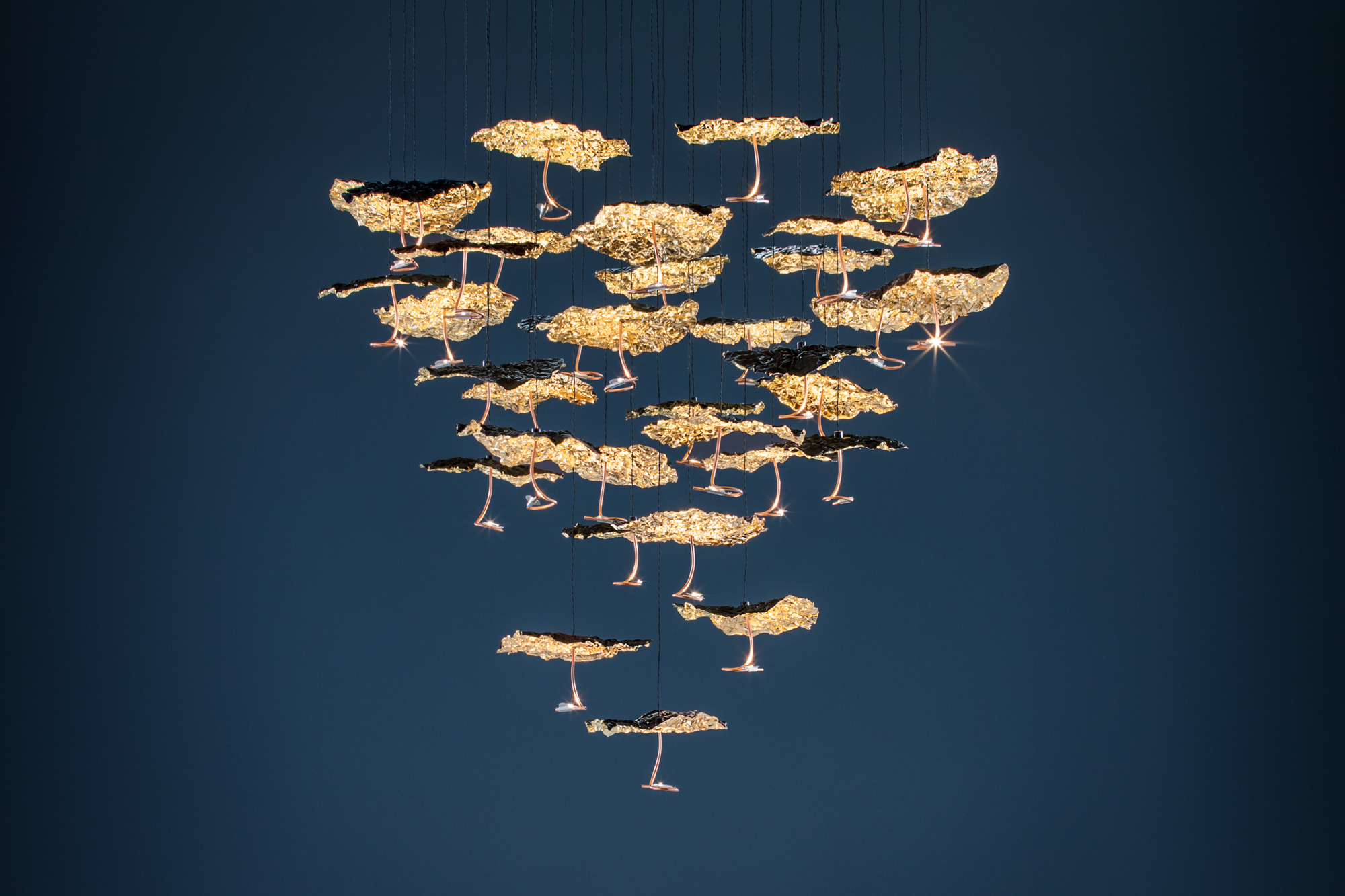 Catellani&Smith: Gold Moon Chandelier